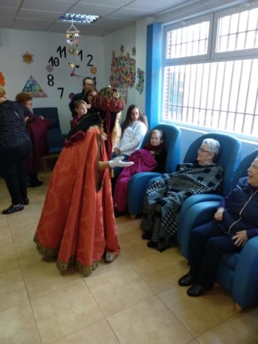 Visita del Rey Mago Gaspar al SED Caravaca 7