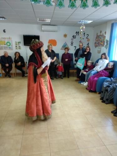 Visita del Rey Mago Gaspar al SED Caravaca 4